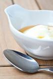 vanlig yoghurt för honung royaltyfri fotografi