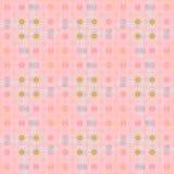 Vanliga sömlösa och invecklade cirklar mönstrar rosa, orange, violett och ljust - blått stock illustrationer