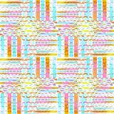 Vanligt sömlöst invecklat bandmodellljus - skiftad blå vit för brunt för violetgulingapelsin royaltyfri illustrationer