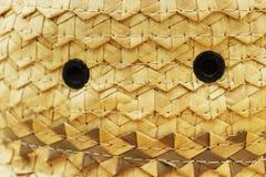 Vannerie en feuille de palmier fabriquée à la main image libre de droits