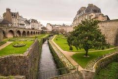 Vannes, Bretagne, Ansicht stockbild