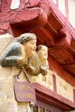 Vannes et sa femme. Iconic figures of the city of Vannes (Morbihan, Brittany Royalty Free Stock Photo