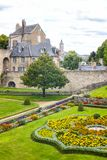 Landscapes and architectures of Brittany. Vannes, France - August 7, 2017: View of the city from the garden of the L`Hermine castle Stock Photography
