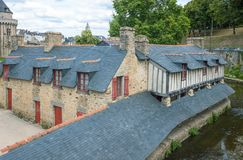 Landscapes and architectures of Brittany. Vannes, France, view of the ancient Washhouse Stock Photography