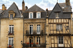 Vannes médiéval, France photo stock
