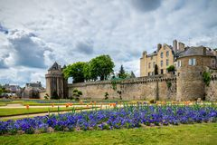 Vannes, a medieval city of Brittany Bretagne in France. Vannes, a medieval city of Brittany Bretagne in France royalty free stock photography