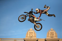 Vanni ODERRA performs a FMX trick Stock Photos