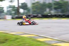 Vanno gli sport di corsa del kart Fotografie Stock Libere da Diritti