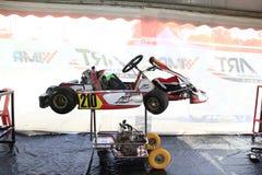 Vanno gli sport di corsa del kart Fotografie Stock