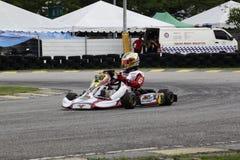 Vanno gli sport di corsa del kart Immagini Stock Libere da Diritti