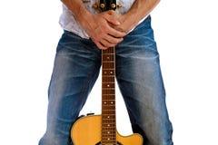 Vanno le gente - abbraccio della parte anteriore della chitarra orizzontale Fotografia Stock
