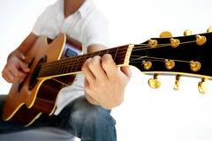 Vanno le gente - chitarra acustica di prospettiva Immagine Stock Libera da Diritti