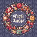 Vanoce de Vesele - cartes de voeux Noël dans la République Tchèque Photographie stock