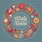 Vanoce de Vesele - cartes de voeux Noël dans la République Tchèque Photographie stock libre de droits