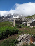 Vanoise; 在阿尔卑斯的小屋。 免版税库存图片