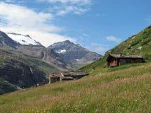 Vanoise; 阿尔卑斯房子 免版税库存照片