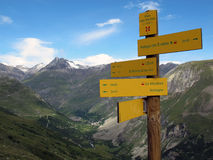Vanoise; Direction sign Royalty Free Stock Images