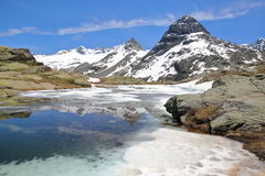 VANOISE, FRANCE: Evettes cirque above the hamlet L`Ecot, Northern Alps Stock Photos