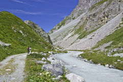 The Vanoise National Park. View of a valley within the Vanoise National Park Stock Photography