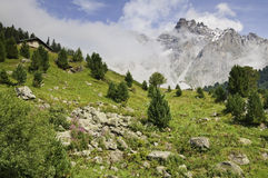 Vanoise National Park. Views of the Vanoise National Park, from the village of Meribel Stock Photos
