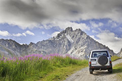Vanoise National Park. Views of the Vanoise National Park, from the village of Courchevel Royalty Free Stock Photography