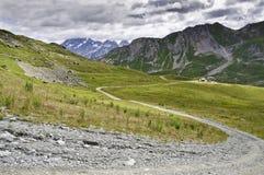 Vanoise National Park. Views of the Vanoise National Park, from the village of Meribel Stock Photo
