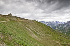 Vanoise National Park. Views of the Vanoise National Park, from the village of Courchevel Stock Photography