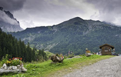 The Vanoise National Park. View of a valley within the Vanoise National Park Royalty Free Stock Photo
