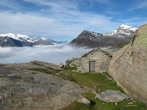 Vanoise; Old hut Stock Photos