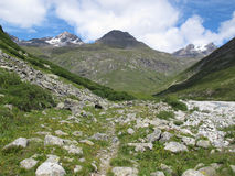 Vanoise; Path in a valley Stock Image