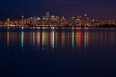 Vanouver at night Stock Photography