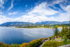 Vanouver Skyline at Prospect Point in Stanley Park, Canada Stock Image