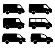 Vans illustrated Royalty Free Stock Images