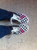 Vans on my feet Stock Images