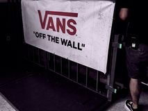 Vans off the wall stock photo