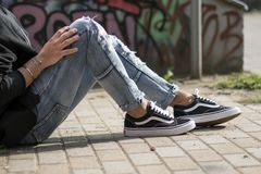 Vans Old Skool Royalty Free Stock Image