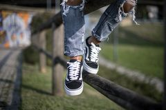Vans Old Skool shoes Royalty Free Stock Images