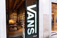 Vans shoes store stock images