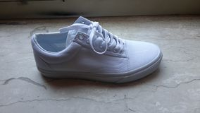 Vans shoes white stock photo