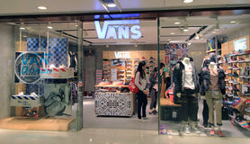 Vans shop in Hong Kong Stock Photo