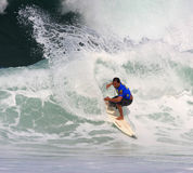 Vans Triple Crown of Surfing. Nov. 13: David Gonsalves competes in the Reef Hawaiian Pro at Haleiwa Beach which is part of the Vans Triple Crown of Surfing in Stock Image