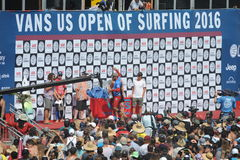 Vans US Open of Surfing Huntington  Beach CA USA, July 2016 Stock Images