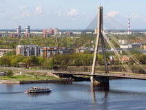 Vansu Bridge over Daugava Stock Photography