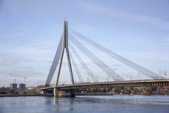 Vansu bridge over river Daugava Riga Latvia. Stock Images