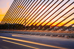 Vansu Bridge In Riga, Latvia. Shroud Bridge. Cable-Stayed Bridge Stock Photography