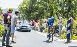骑自行车者约翰Vansummeren -环法自行车赛2015年 免版税库存图片