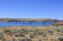 Vantage Bridge across Columbia River. In Washington, USA stock image