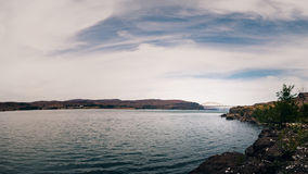 Vantage Bridge crossing Wanapum Lake, over the Columbia River Royalty Free Stock Photo