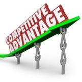 Vantagens competitivas Team Lifting Words Arrow Foto de Stock Royalty Free