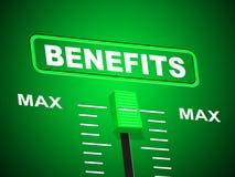 Vantagens de Max Indicates Upper Limit And dos benefícios Fotografia de Stock Royalty Free